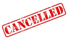 Notice of Governing Board Meeting Cancellation
